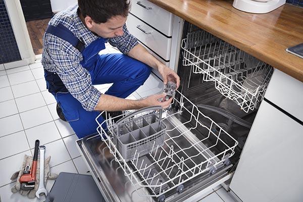 averñias comunes en el lavavajillas de la cocina