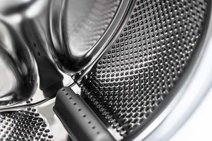 Tambor de lavadora en perfectas condiciones de mantenimiento