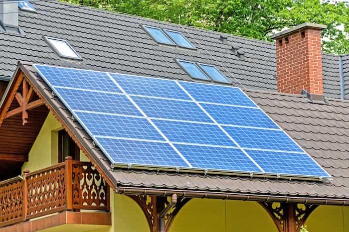 Placas solares para la calefacción